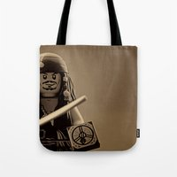 jack sparrow Tote Bags featuring I am Captain Jack Sparrow by plopezjr