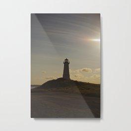 Back Lit Lighthouse Metal Print