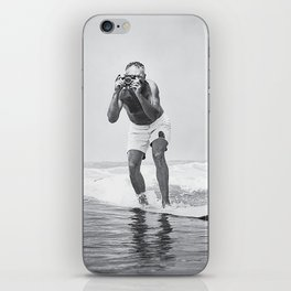 The Surfing Photographer iPhone Skin