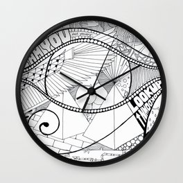 Egyptian Dog Dick Wall Clock