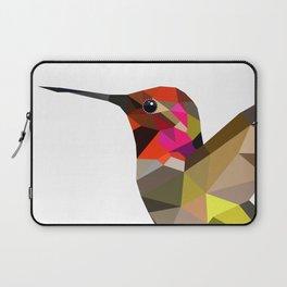 Pink hummingbird portrait Laptop Sleeve