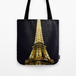 Golden Eiffel Tower Tote Bag