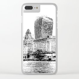 City of London Art Panorama Clear iPhone Case