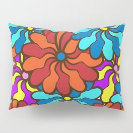 floral background. field of multi colored bright summer colors for the background Pillow Sham