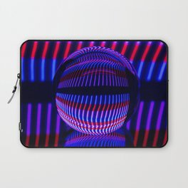 Red and Blue in the glass ball Laptop Sleeve