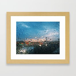 Evening Rainfall Framed Art Print