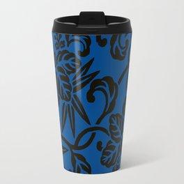 Antique Japanese Pattern : Navy Blue Travel Mug