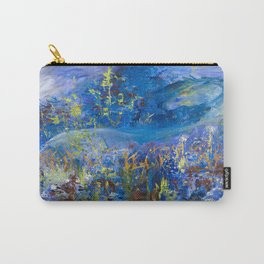 Floral Ghost Horse Carry-All Pouch