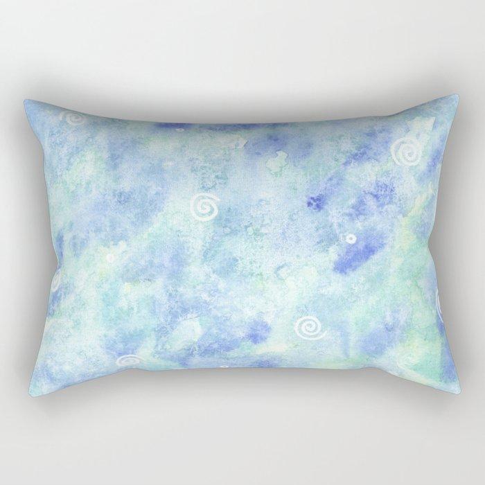 Blue lagoon watercolor Rectangular Pillow