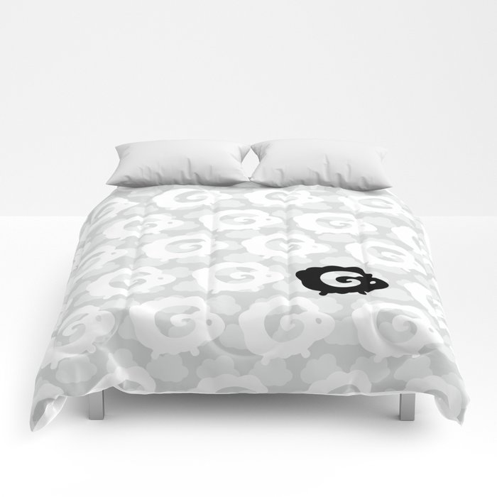 Black Sheep Pattern Comforters
