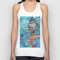 black swan Tank Tops featuring Black Swan by Juliana Kroscen