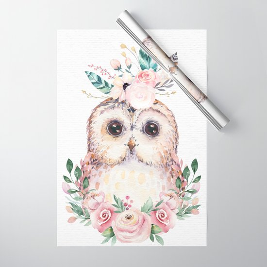 Forest Owl Floral by Nature Magick by naturemagickkids