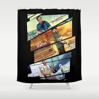 gta Shower Curtains featuring Breaking Bad mashup GTA V  by Akyanyme