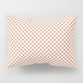 Copper Tan Polka Dots Pillow Sham
