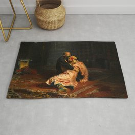 Vivid Retro - Ivan the Terrible and His Son Ivan Rug