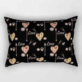 Broken hearts. Love . Rectangular Pillow