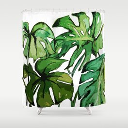 swiss cheese Shower Curtain