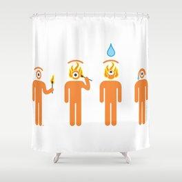 fuego nuevo Shower Curtain