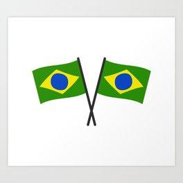 brazil flag Art Print