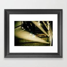 New York Subway Shoes Framed Art Print