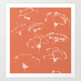 White Poppies III Art Print