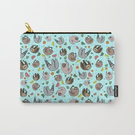 Sloth Pattern Carry-All Pouch