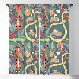 Rain forest animals 003 Blackout Curtain