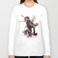 lebron Long Sleeve T-shirts featuring LeBron 6 by Asta Dagmar