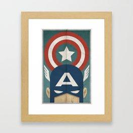 Star-Spangled Avenger Framed Art Print