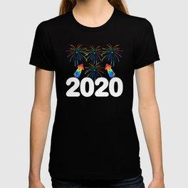 2020 Colorful Fireworks Bang Wish T-shirt