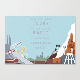 "Minimalist Magic-""Leave Today"" DAY Canvas Print"