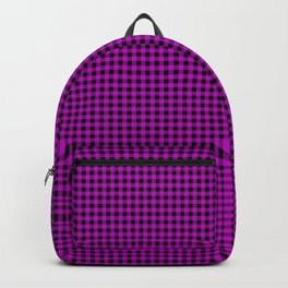 Zombie Purple and Black Halloween Gingham Check Backpack