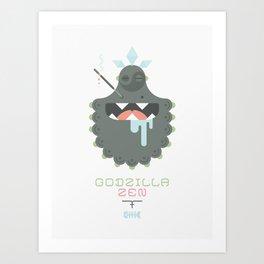 Godzilla Zen (Japan Contrasts series) Art Print