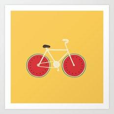 watermelon bike Art Print