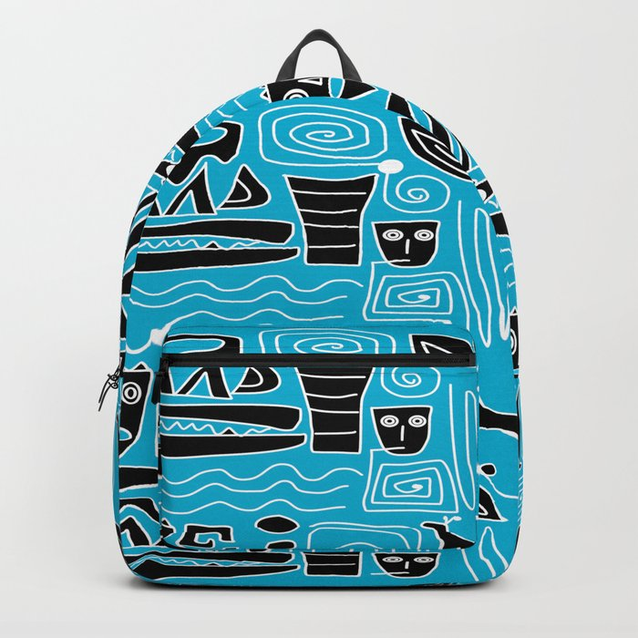 Tribal Blues Backpack