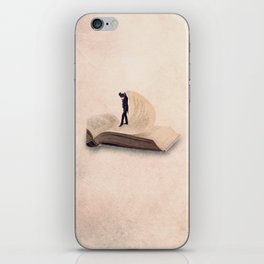 The page turner iPhone Skin