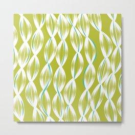 Deep Summer - Lime Seaweed Metal Print