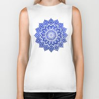 power Biker Tanks featuring ókshirahm sky mandala by Peter Patrick Barreda