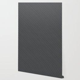 Sharkskin and Black Stripe Wallpaper