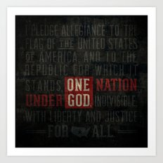 The Pledge of Allegiance Art Print