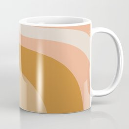 Organic Topography Earth Tone Abstract Coffee Mug