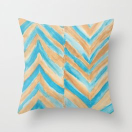 Beach Chevron Throw Pillow