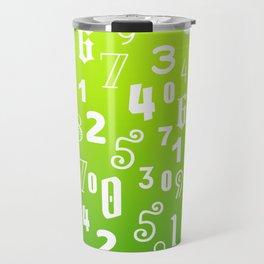 White Numbers Travel Mug