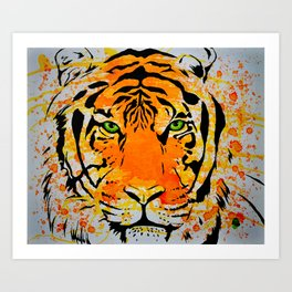 Tiger Too Art Print