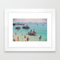 Let's Jump Off The Rocks Framed Art Print