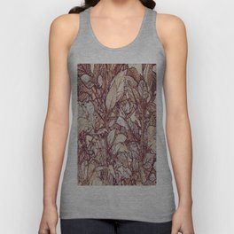 abstract camouflage leaves Unisex Tank Top