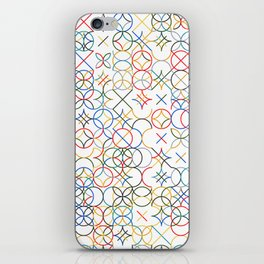 Colored Circle and Arc Grid  iPhone Skin
