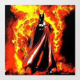 Bat on Fire Canvas Print