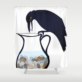 The Crow and the Pitcher Shower Curtain