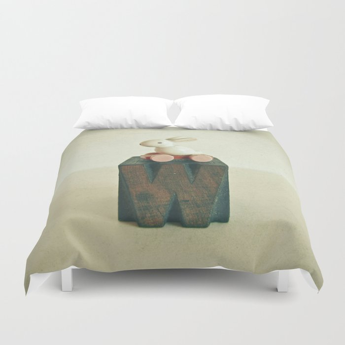 W is for Wheels Duvet Cover